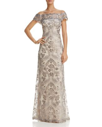 6fd44859a71 Tadashi Shoji Embellished Illusion Gown Women - Dresses - Evening   Formal  Gowns - Bloomingdale s