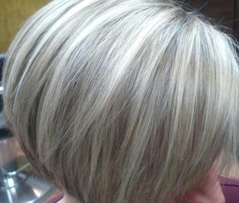 Gray Highlighted Hair Gray Hair Highlights Blending Gray Hair Hair Highlights And Lowlights