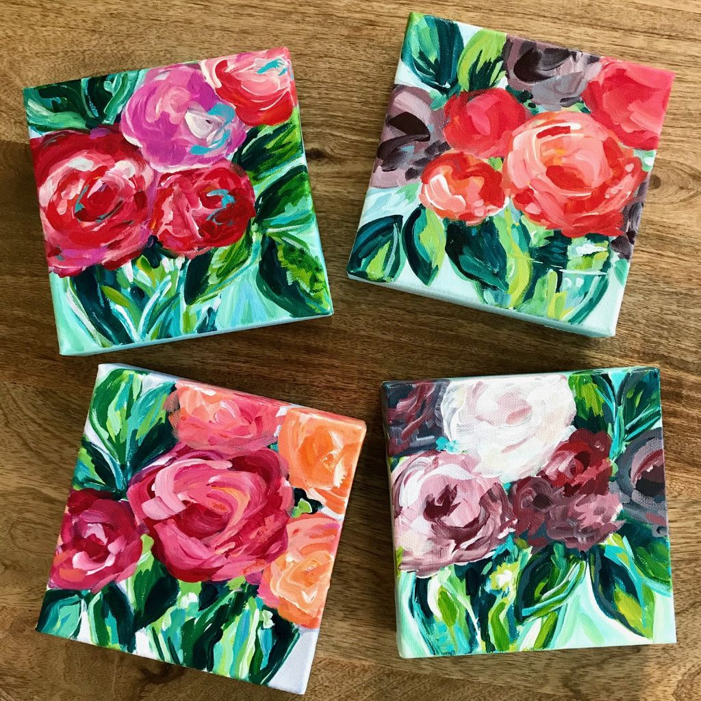 Easy Flower Painting Step By Step Learn How To Paint Flowers On