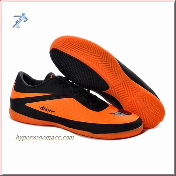 outlet store 18f7e 918d7 Sweet Spot Football Boot Accessory Nike HyperVenoms Junior IC Indoor Black  Bright Citrus