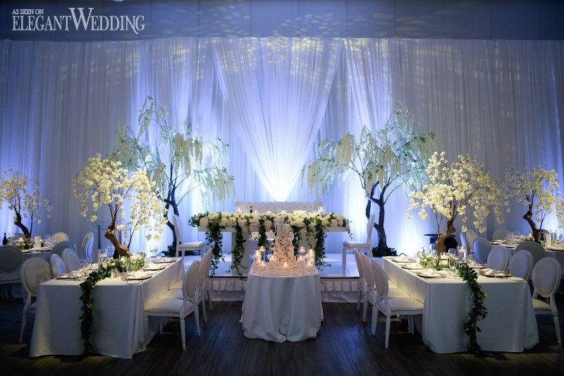 Timeless Garden Fairytale Wedding Tree Wedding Centerpieces