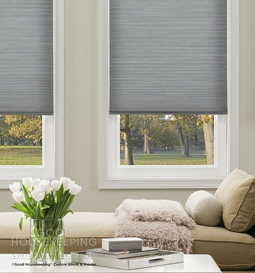 Shown In Slate Cellular Shades Everyday Essentials Products Child Safe Window Treatments