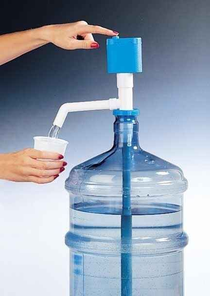 This cordless water pump eliminates the need to rent a bulky dispenser.