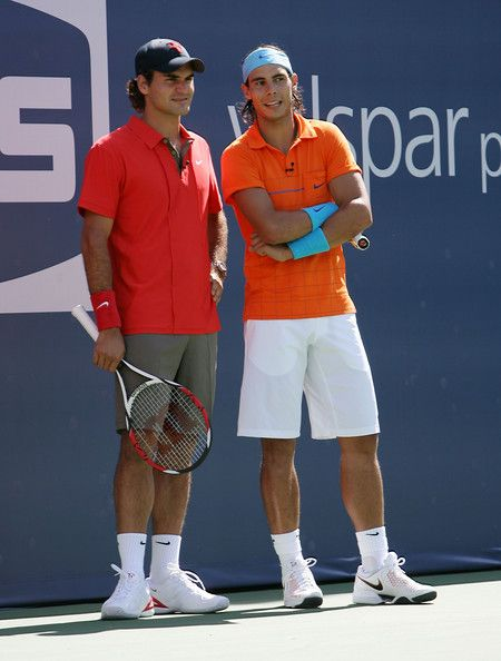 Rafael Nadal Photos Photos 2008 Arthur Ashe Kids Day Billie Jean King Roger Federer Federer Nadal