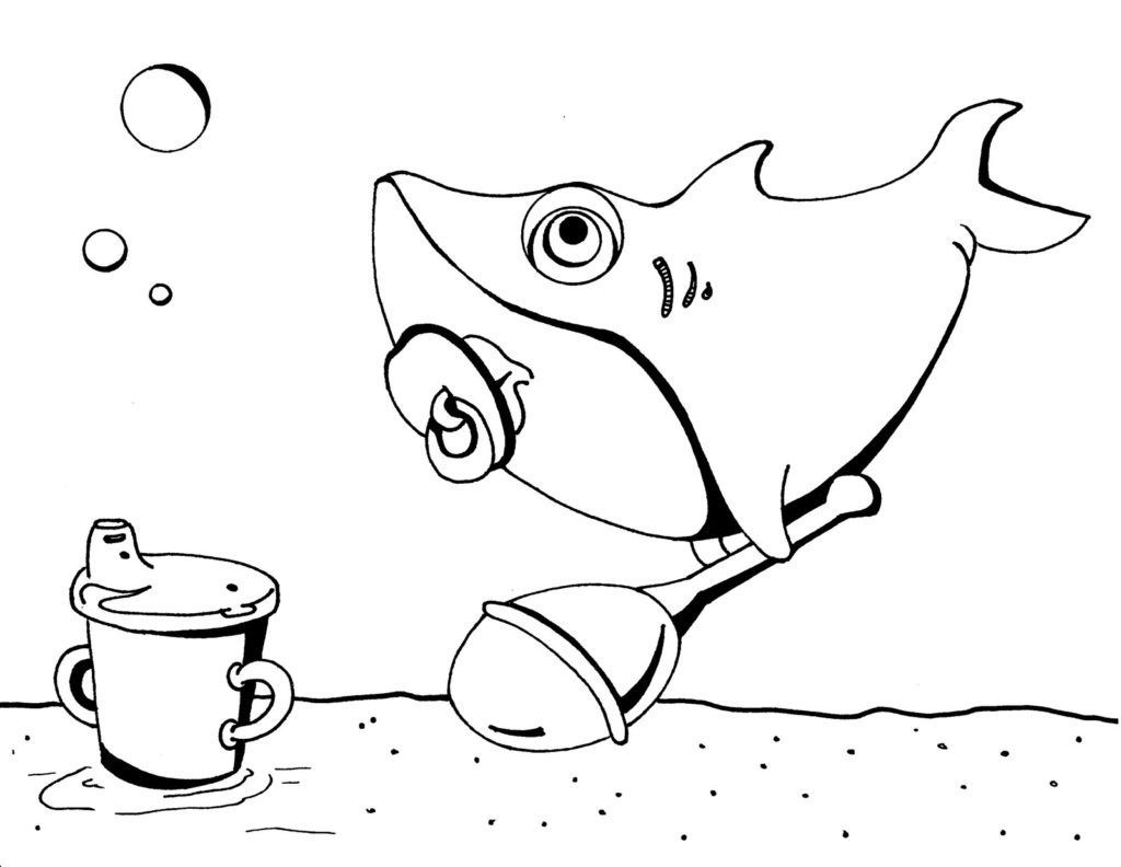 Pinkfong Baby Shark Coloring Sheet For Kids Best Picture For