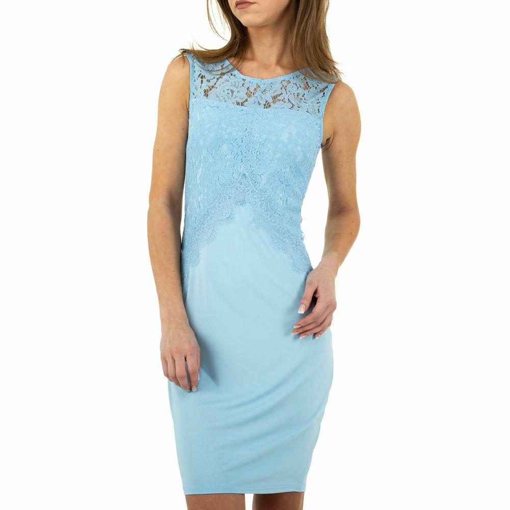 KURZES SPITZEN DAMEN KLEID XL Blau 18  eBay in 18  Blaues