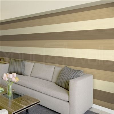 Horizontal Stripes Wall Ideas Striped Wallpaper