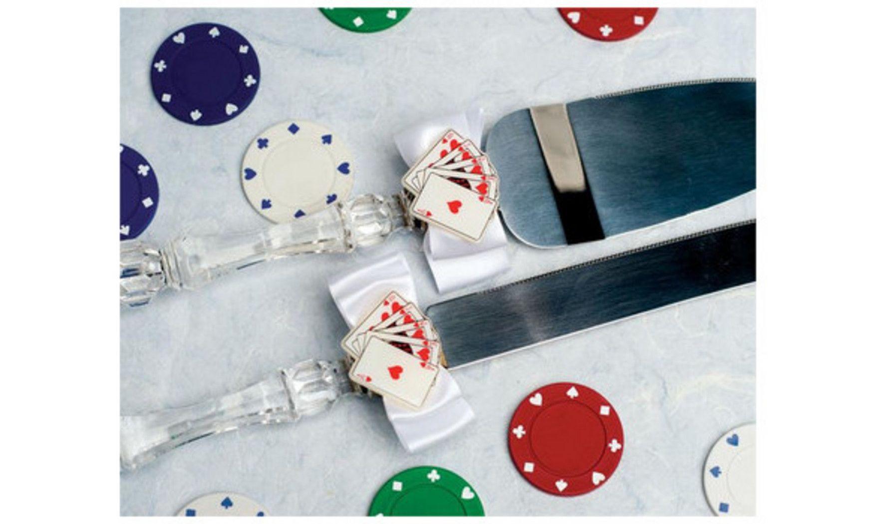Couverts découpe Casino :   Mariage à Las Vegas