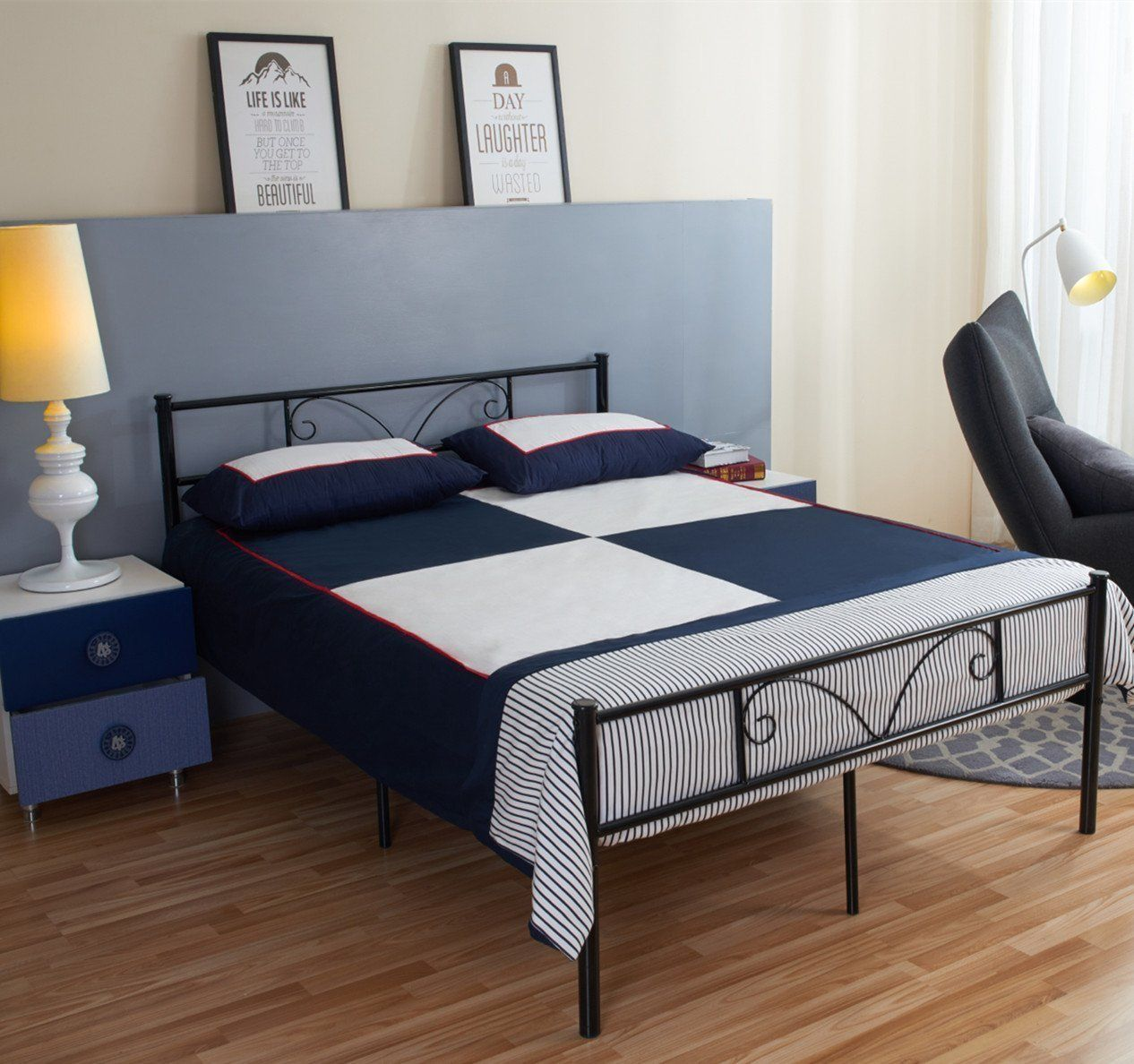 Top 10 Best Full Size Metals Review Bed frame, Full