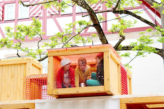 KuKuk Box - a play company that specialises in 'temporary' play spaces formed out of old shipping containers