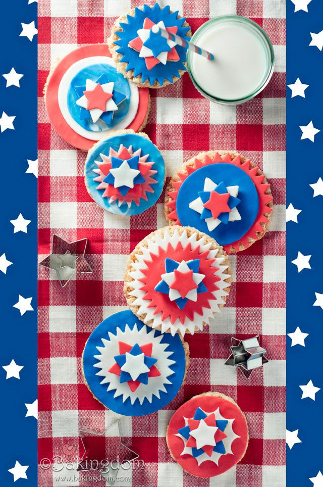 Patriotic Krispy Treats from bakingdom.com