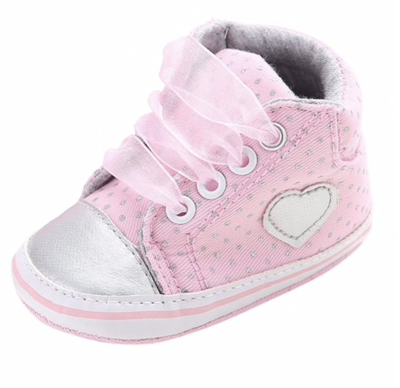 Baby Girl Shoe Pink Heart Printed Shoes For Baby Girl Baby Crib Shoes Baby Shoes Baby Girl Shoes