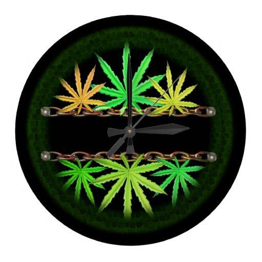 Valxart Cannabis Template Wall Clocks Art Clocks Buy