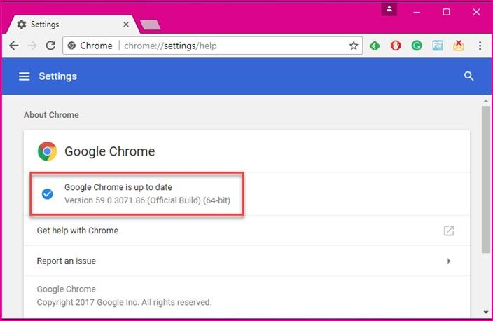 Direct download Chrome 59 offline installer for Windows