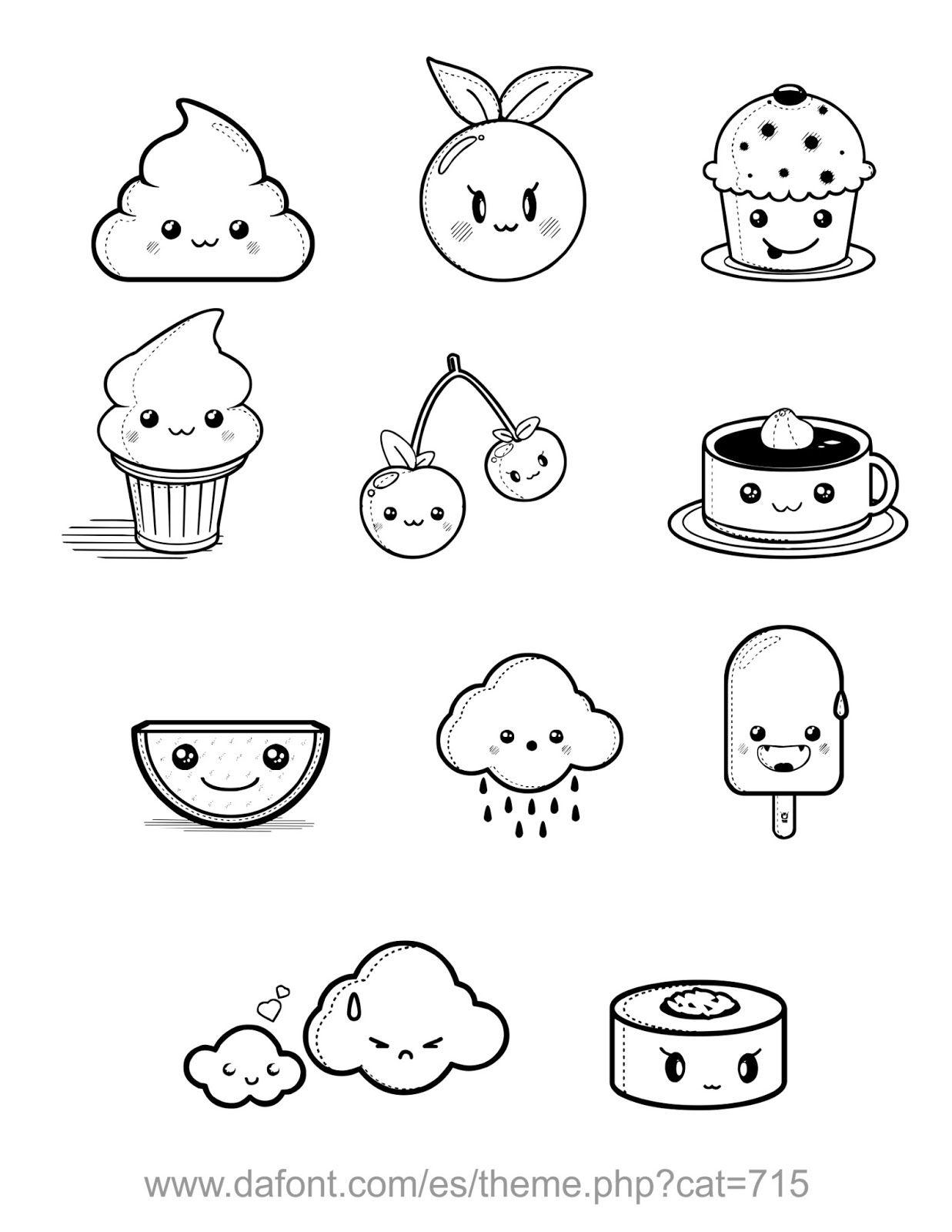Ilustraciones Dibujos Comida Garabatos Lindos Dibujos Kawaii