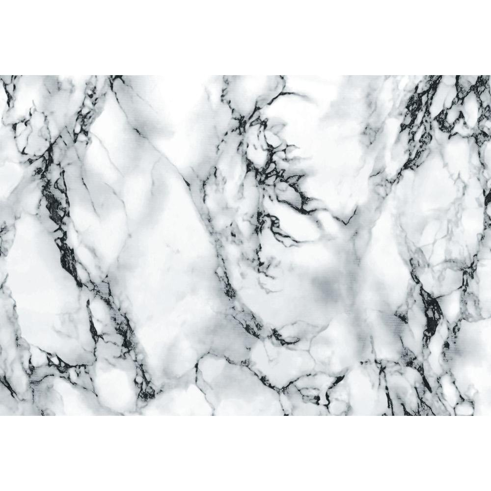marble grey 26 in. x 78 in. home decor self adhesive film, marble