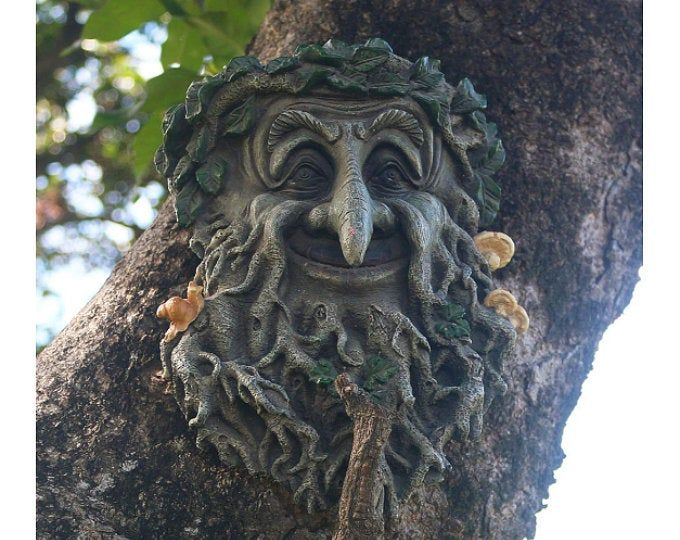 Tree Face garden decorations, great gifts for all, outdoor sculptures, statues ornaments. garden decorations yard art, funny faces on trees