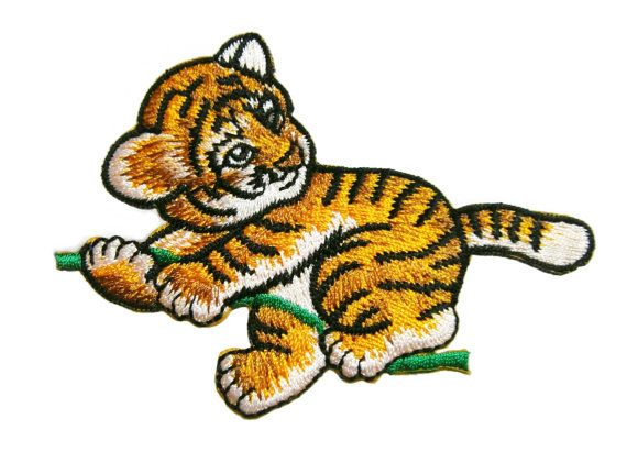 Tiger Embroidered Applique Iron on Patch
