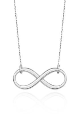 Belk  Co.  14k White Gold Infinity Necklace