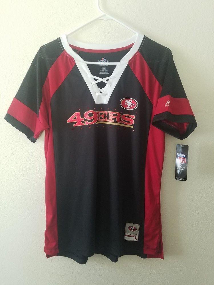 MAJESTIC NFL Team Apparel SAN FRANCISCO 49ERS V-Neck Jersey Shirt Womens  NWT   34.20 End Date  Saturday Nov-3-2018 11 55 10 PDT Buy It Now… 998da6e68