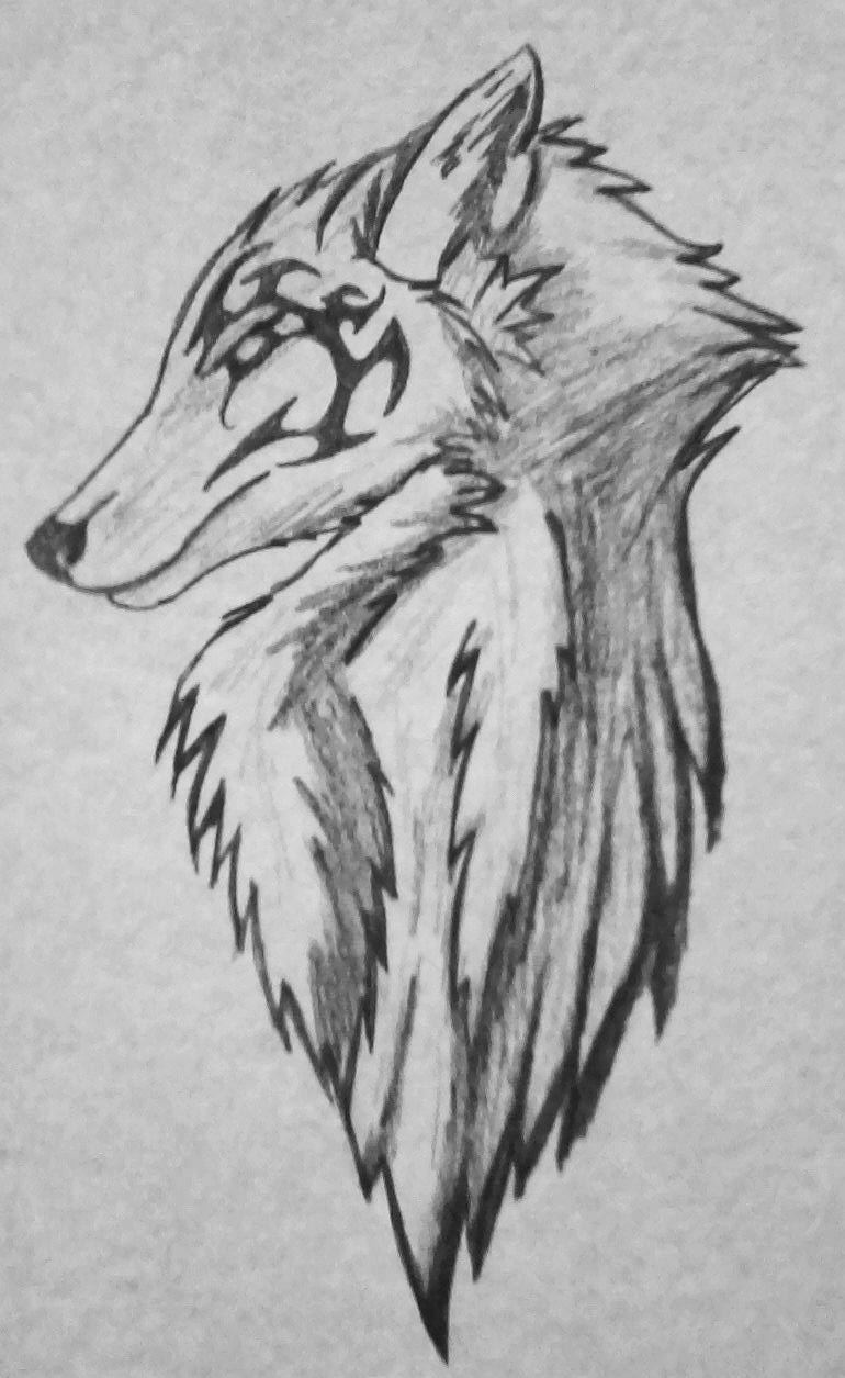 Крутые рисунки волков карандашом легко милый