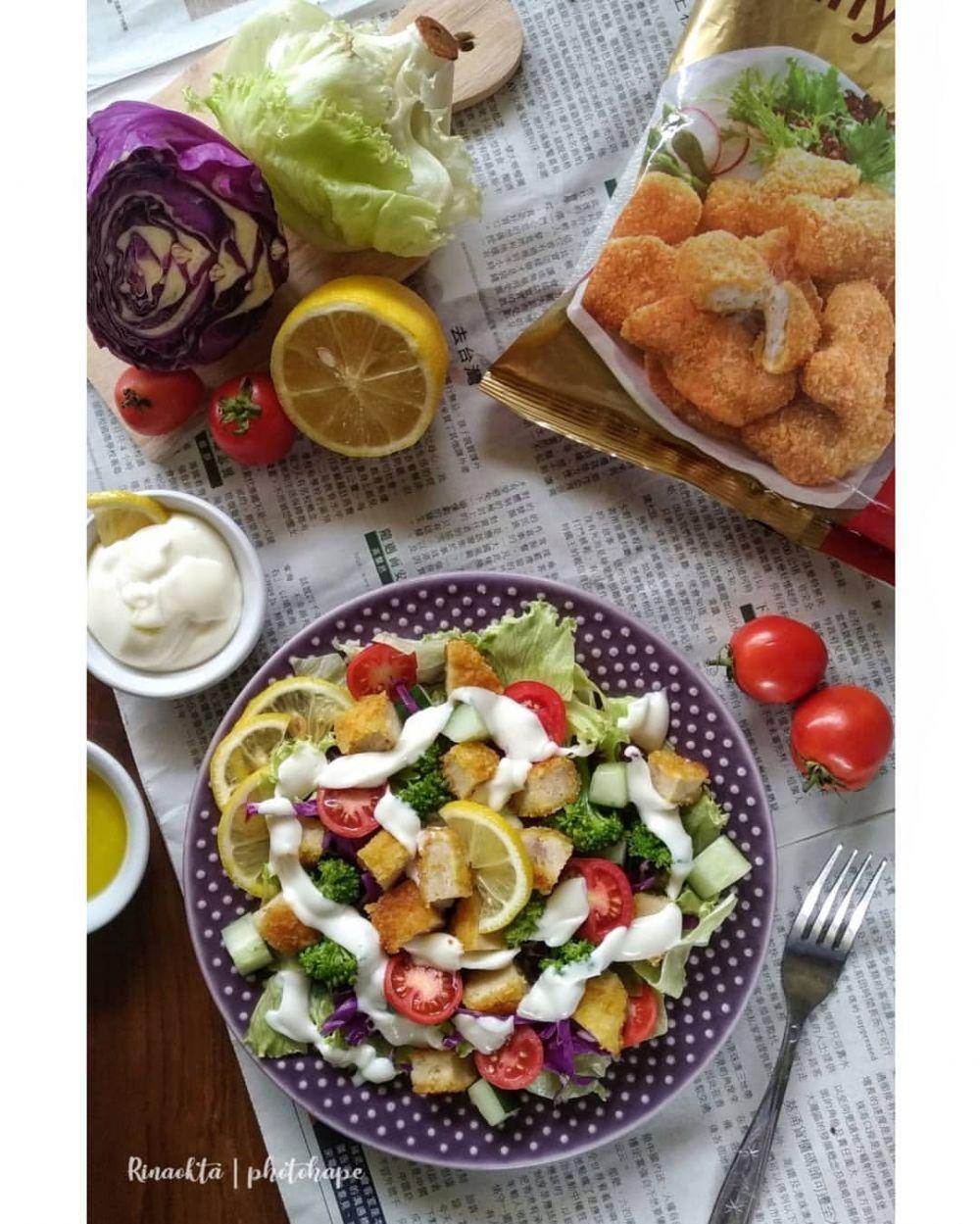 Resep Salad Sayur Instagram Salad Sayur Sayuran Resep Salad