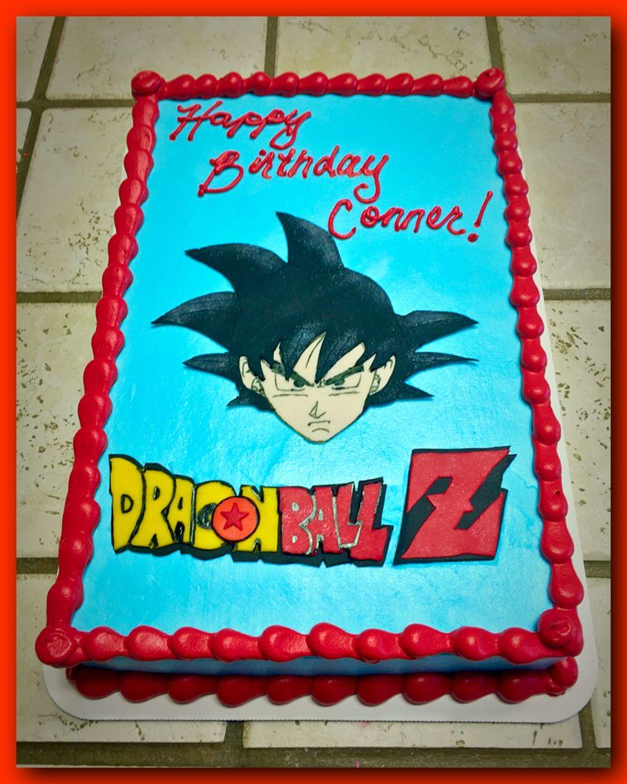Dragon Ball Z Goku Sheet Cake With Images Dragon Ball
