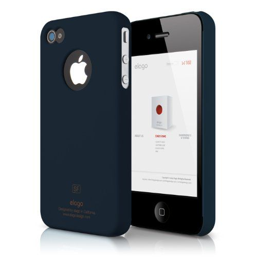 elago S4 Slim Fit Case for ATT, Sprint, Verizon iPhone 4/4S + Logo Protection Film included (Soft Feeling Jean Indigo) - Keep the iPhone 4 safe  protected in style with the S4 Slim Fit Case. Unique design allows easy access to all buttons,