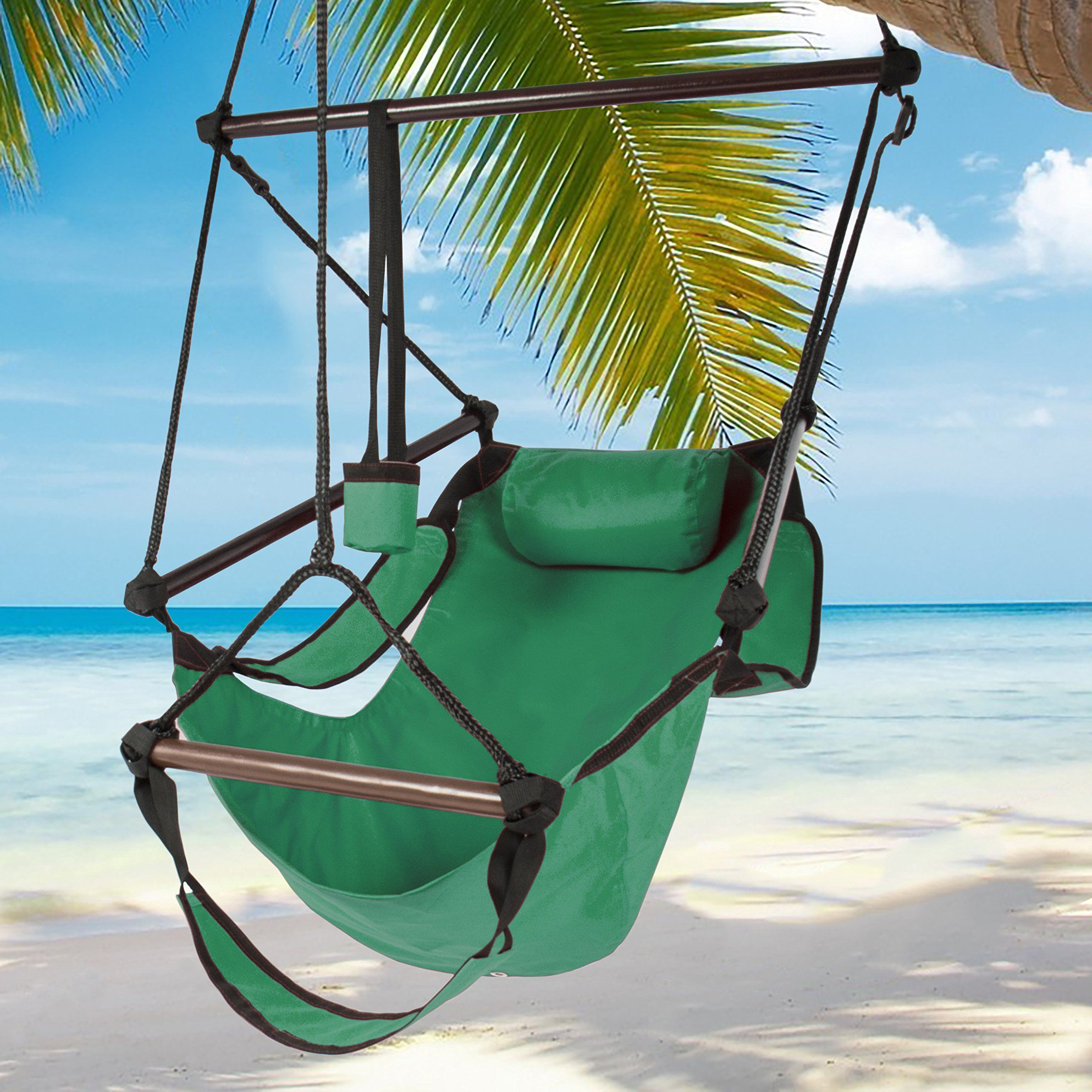 Amazon best choice products hammock hanging chair air deluxe