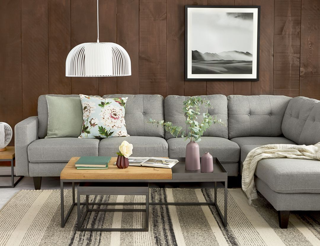 warren right facing sectional sofa with