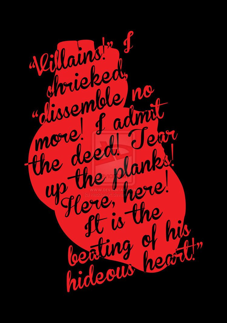 Poemas Corazon Delator Edgar Allan Poe Frases The Tell Tale Heart By Edgar Allan Poe By Haddonart On Deviantart