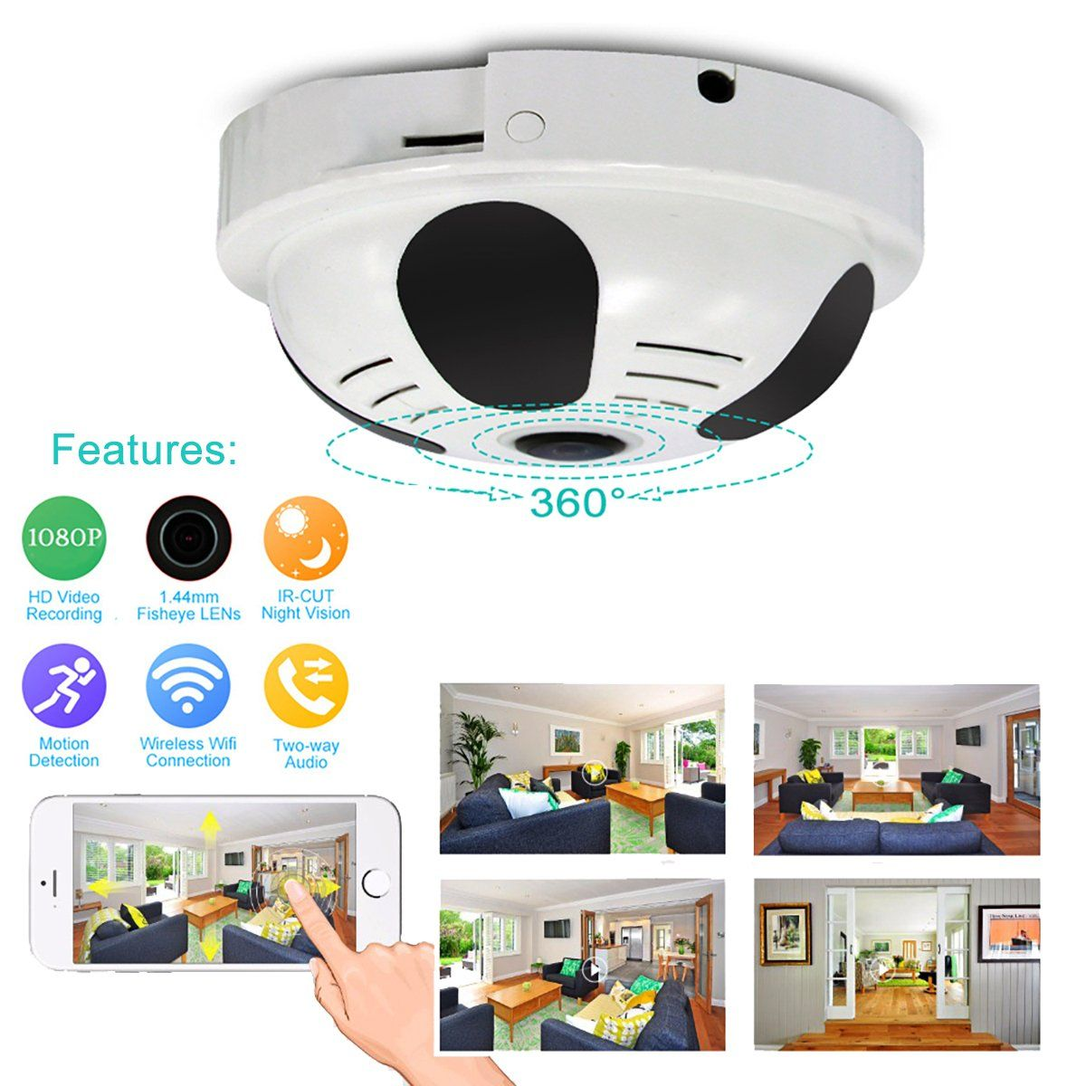 Smoke Detector Motion Sensor Hidden Spy Cctv Camera 800tvl
