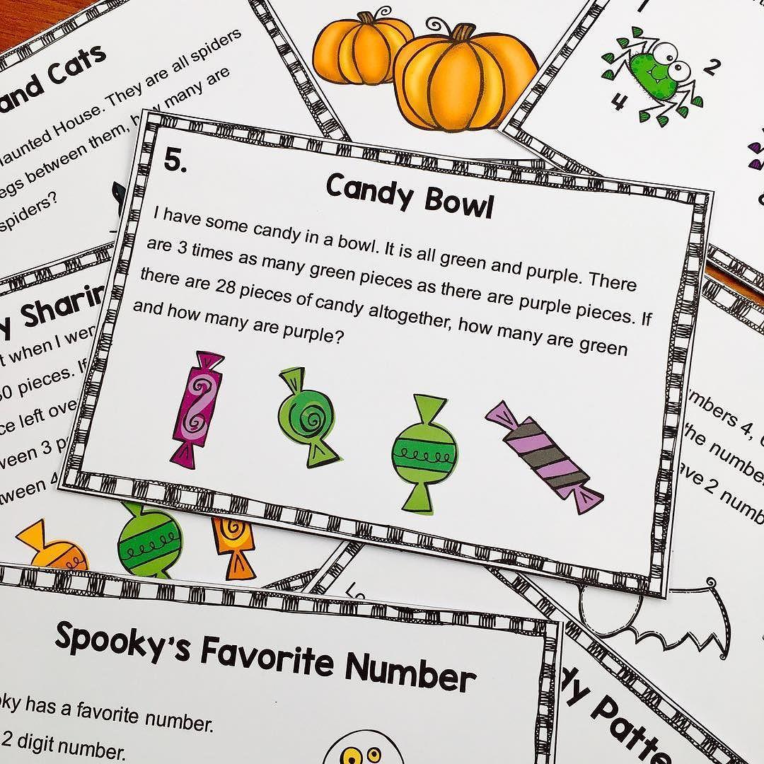 Halloween Math Brain Teasers To Tease Their Brains These Brain Teasers Are From My Ha Halloween Math Worksheets Halloween Math Games Halloween Math Activities [ 1080 x 1080 Pixel ]