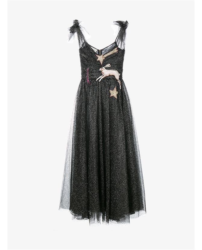0d81078f GUCCI Embroidered Glitter Tulle Dress. #gucci #cloth #   Gucci ...
