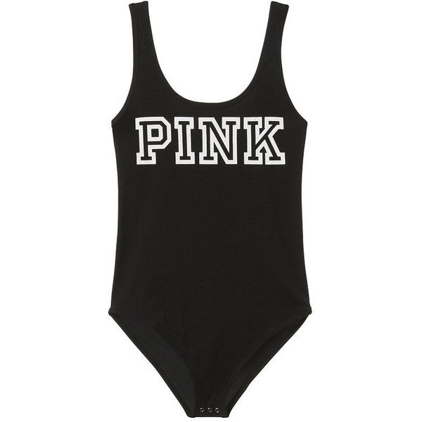 Scoop Neck Tank Bodysuit PINK ( 60) ❤ liked on Polyvore featuring victoria s  secret bd8887444