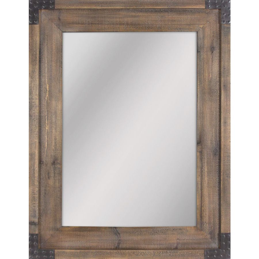 Shop allen + roth 30.31-in x 40.55-in Reclaimed Wood Beveled ...