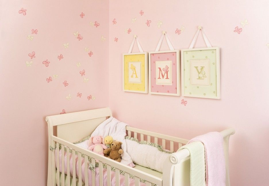 Decorations : Baby Room Artwork With Picture Frame Also Pink Color ...