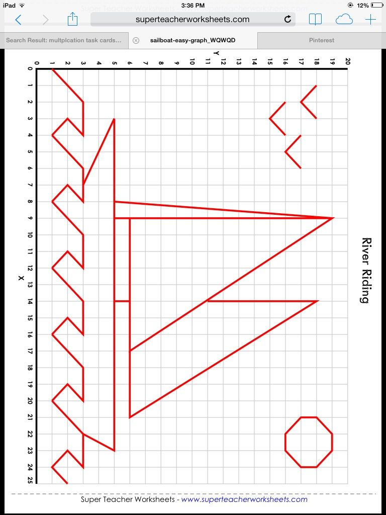Mystery Graph Art Http Www Superteacherworksheets Com Mystery Graph Picture Sailboat Easy Touch Math Worksheets Touch Math Printables Mathematics Worksheets