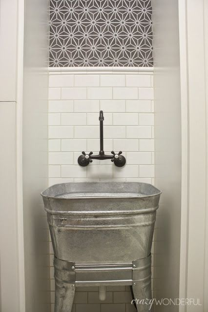 Galvanized Wash Tub Laundry Room Sink Laundry And