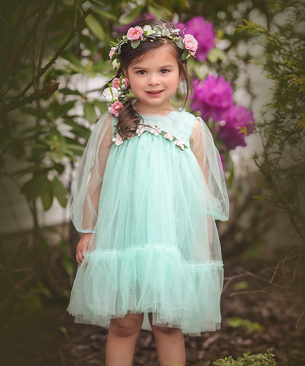 Rustic wedding flower girl dresses  Just Couture Mint Whitney Tulle Dress  Toddler u Girls  zulily