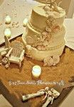 Set of 2 Cake Topper Wedding Decor Mini Adirondack Chair Beach Lake Rustic Personalized Any Color