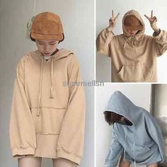 Fashion Girls Casual Pullover Jumper Hoodie Sweatshirt BF Loose Sweater Coat Top