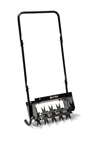 Agri Fab 45 0365 16 Inch Push Spike Aerator Walk Behind Lawn Wide 5 Aerating Wheels With 7 Spikes Expose Gr To Air