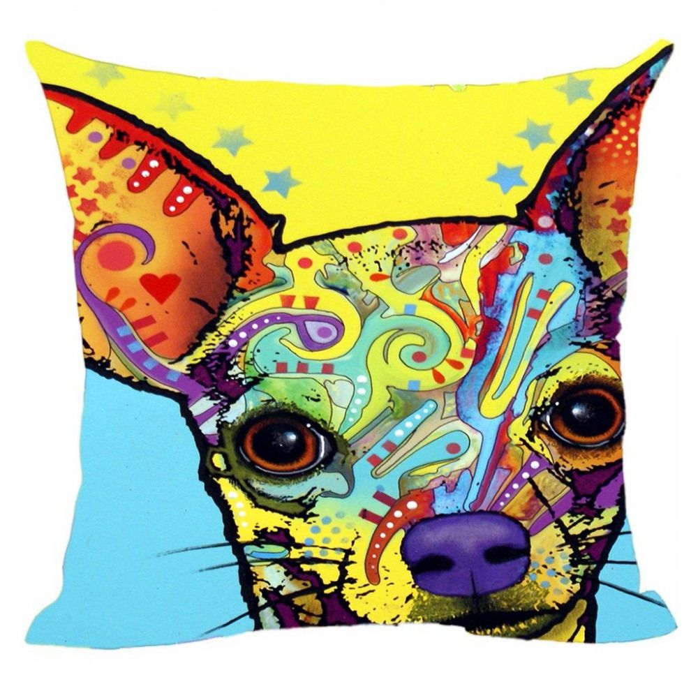 Lovely Cat Dog Cushion Cover Chow Chow Chihuahua