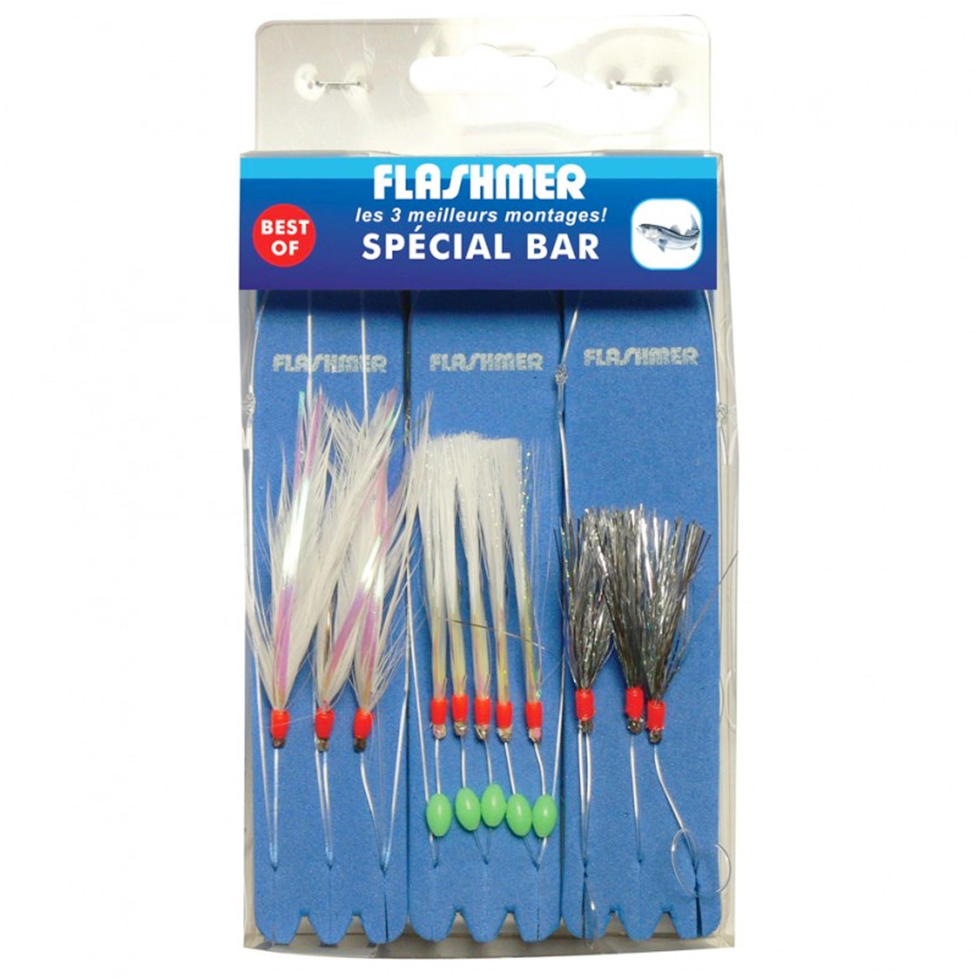 Flashmer - Hengelsport - Verenpaternoster - Onderlijn zeebaars BEST OF x3 vissen op zee. Deze onderlijnen zijn ontworpen voor het vissen op baars en andere zeeroofvissen.