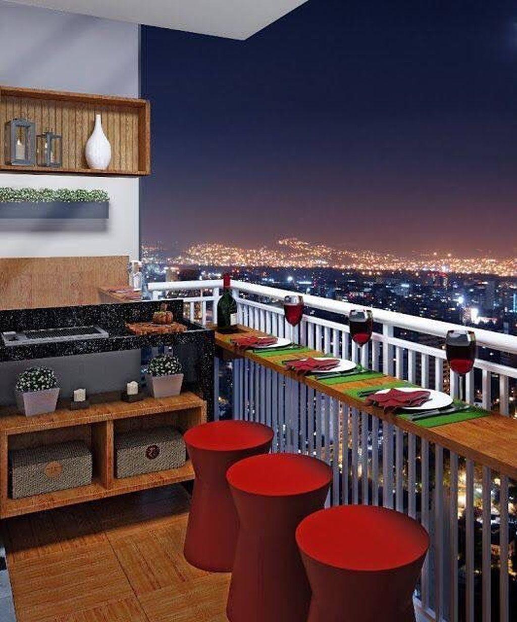 49 The Best Mini Bar Design Ideas in Balcony Apartment #balconybar