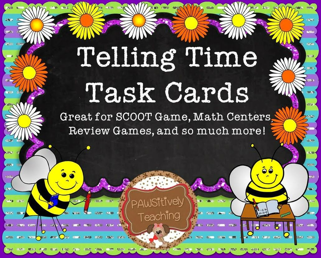 Free Telling Time Task Cards 5 Minute Intervals