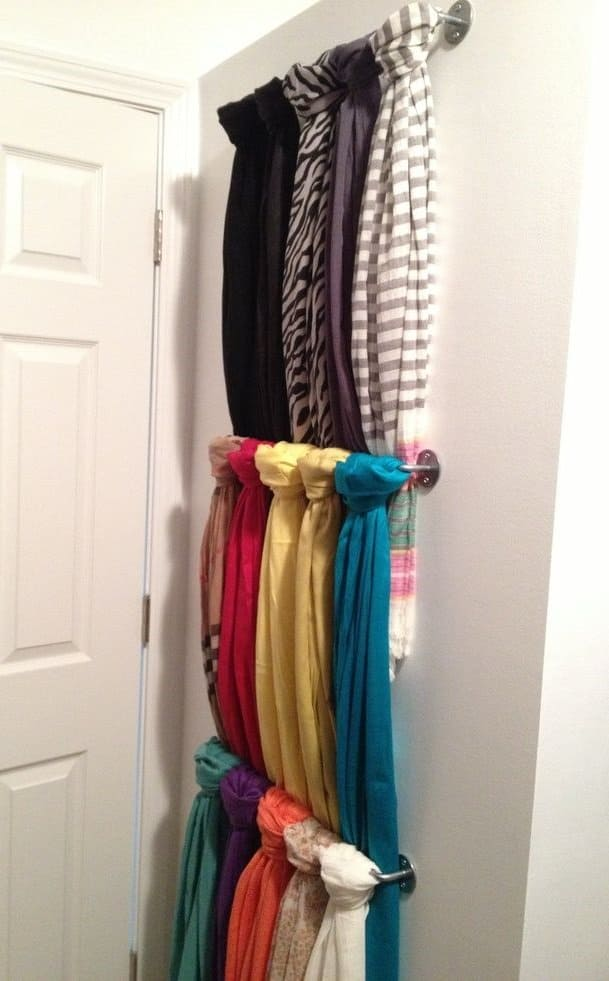 10 Creative Scarf Organizer And Easy To Do Storage Ideas In 2020