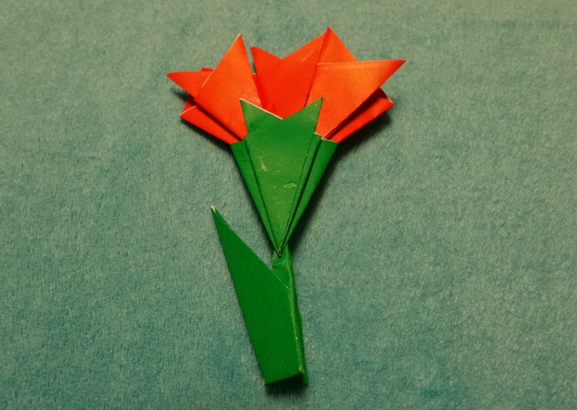 How To Make A Origami Carnation