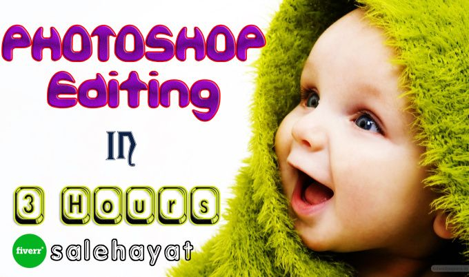 do any type of Photoshop editing in 3 hours by salehayat